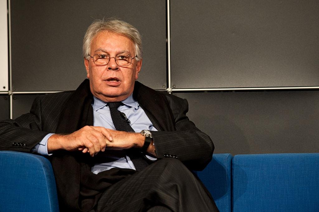 Felipe Gonzalez ist in Spanien die graue Eminenz der Sozialisten.