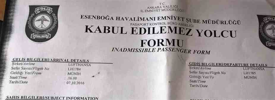 Linienflug LH1784 nach Ankara Dokument Copy NEUE DEBATTE Artikel
