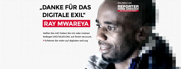 Aktion Digitales Exil von Reporter ohne Grenzen zum Tag der Menschenrechte.