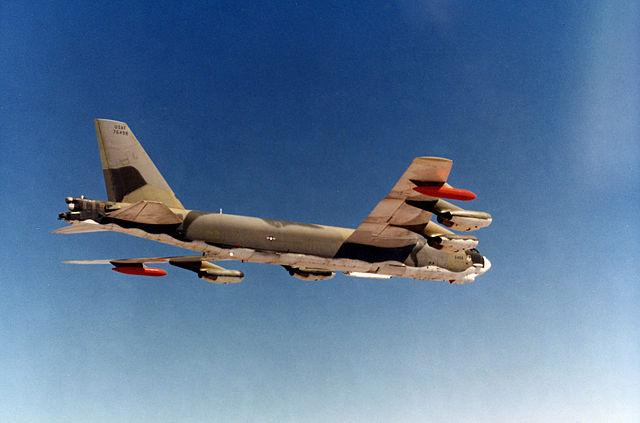 B-52G im Flug, gleicher Typ des verunglückten Flugzeuges. Foto: Gemeinfrei