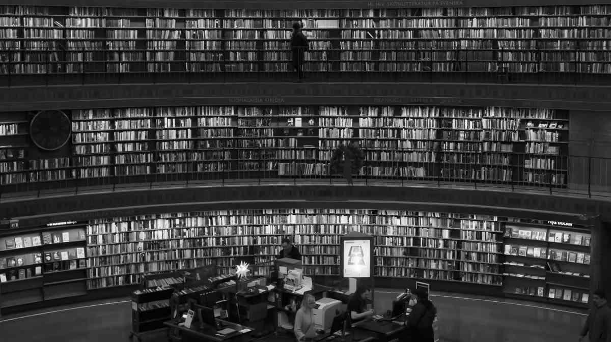 Bibliothek in Stockholm.