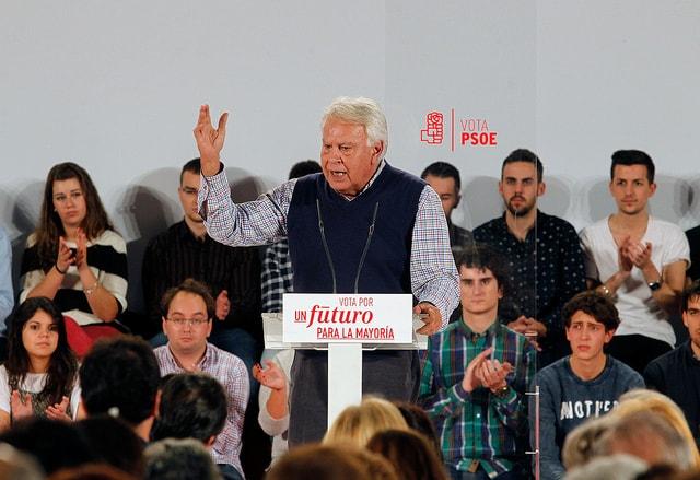 Felipe Gonzalez ist die graue Eminenz der PSOE.