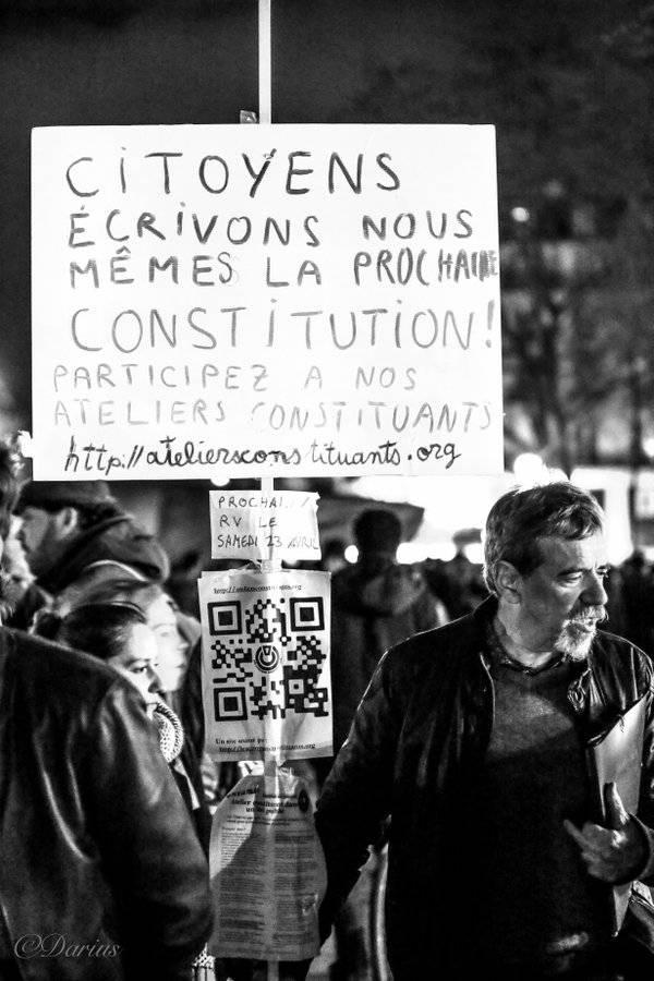 Nuit debout fordert ein gesellschaftliches Modell eigener Prägung.