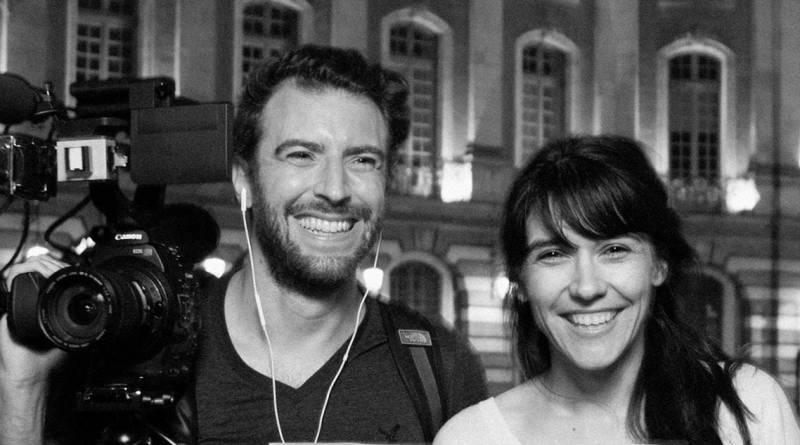 Die französischen Filmemacher Sylvain Louvet und Aude Favre.