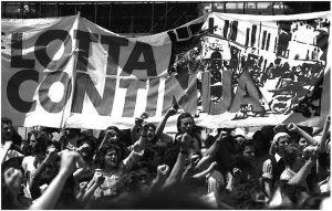 Eine Demonstration von Lotta continua 1973. Gemeinfrei