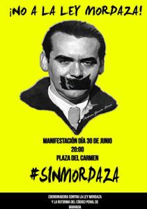 Plakat - No A La Ley Mordaza