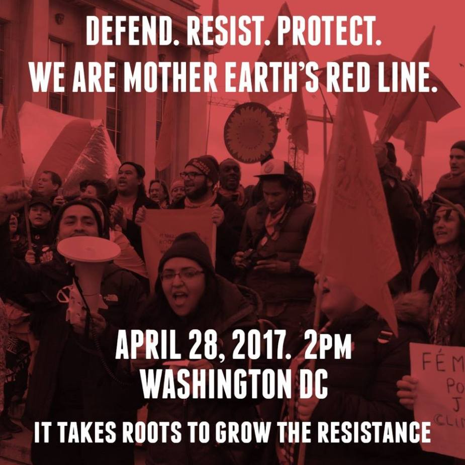 Aufruf von Roots To Grow Resistance zur Demo in Washington