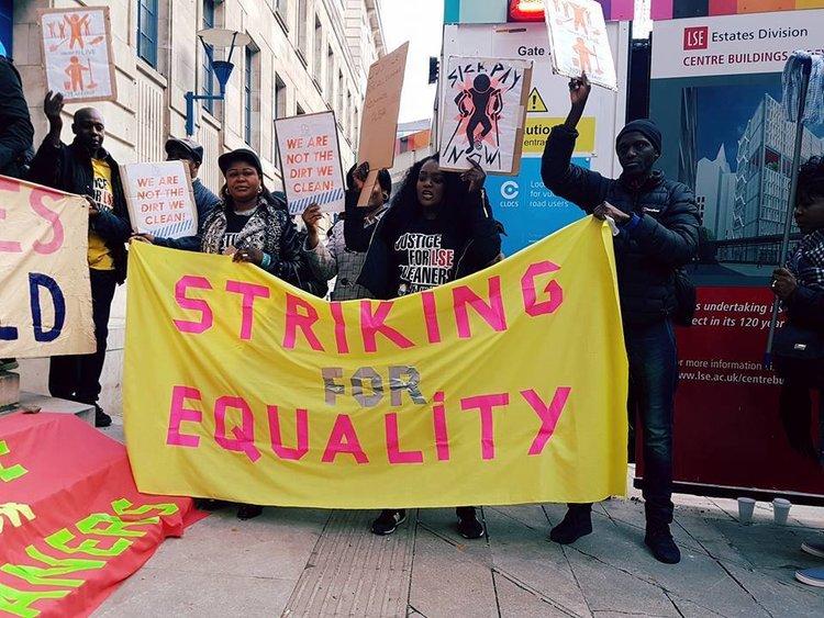 Die UVW will an der LSE streiken bis ihre Forderungen erfüllt sind. (Foto: UVW)