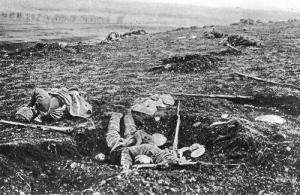Weltkrieg I Schlachtfelder vermutlich Rumänien 1914 bis 1918 gemeinfrei
