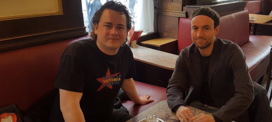 Im Café Ritter (Wien) mit Joachim Kovacs (re.) und Michael Wögerer.