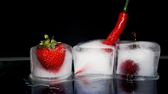 Politisch inkorrekt. Frucht und Chillie im Eis von moritz320; pixabay.com; Creative Commons CC0