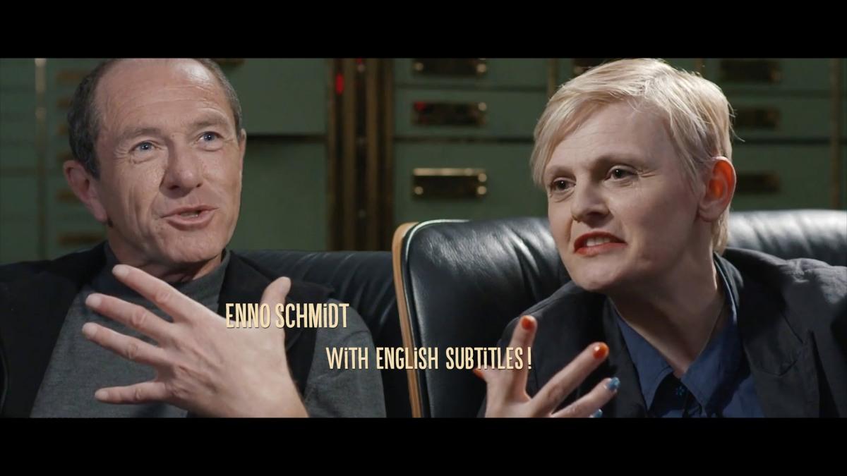 Bilbo Calvez und Enno Schmidt im Gespräch