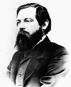 Friedrich Engels aufgenommen von Fotograf George Lester etwa 1868 - gemeinfrei