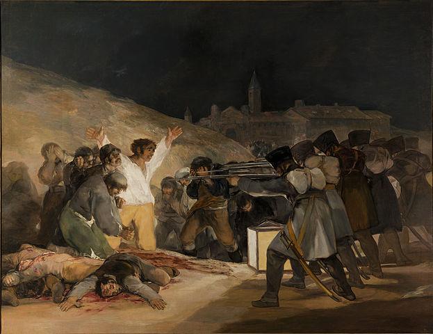 Die Erschießung der Aufständischen am 3. Mai 1808, Gemälde von Francisco de Goya, Museo del Prado, Madrid