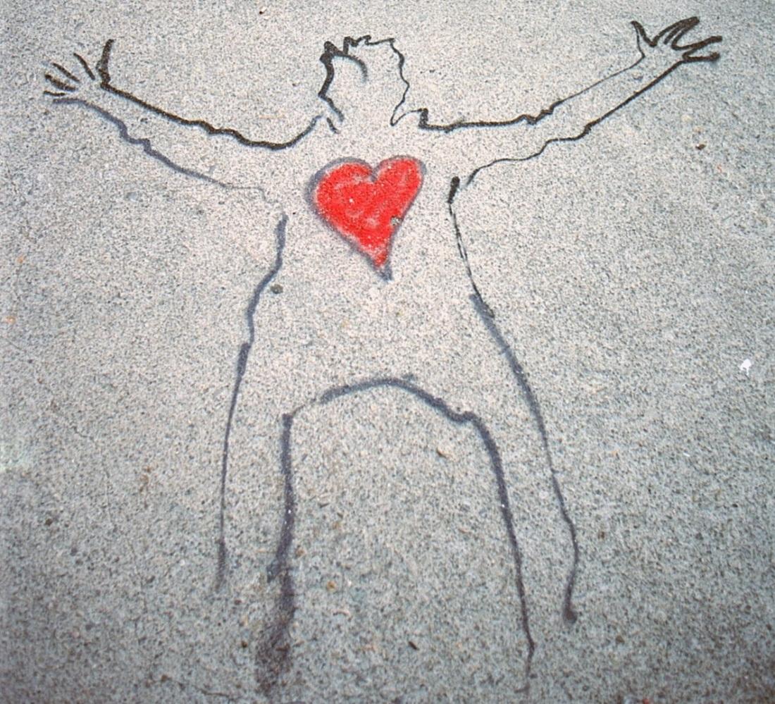 Brüderlicher Appell an Spanier und Katalanen als Street Art in Barcelona.