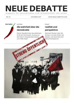 Magazin No. 0 Neue Debatte DIN A4