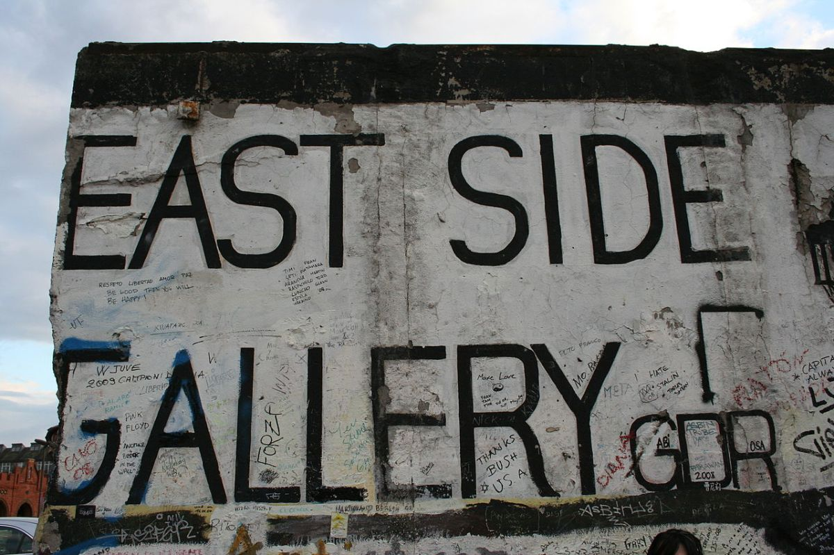 East Side Gallery, Berliner Mauer, 2008. (Foto: Onanymous, CC BY-SA 4.0)