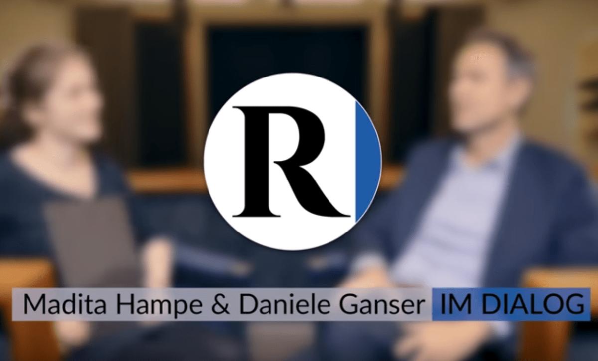 Im Dialog - Rubikon Videoformat - Madita Hampe und Daniele Ganser im Gespräch. (Foto: Screenshot/Rubikon)