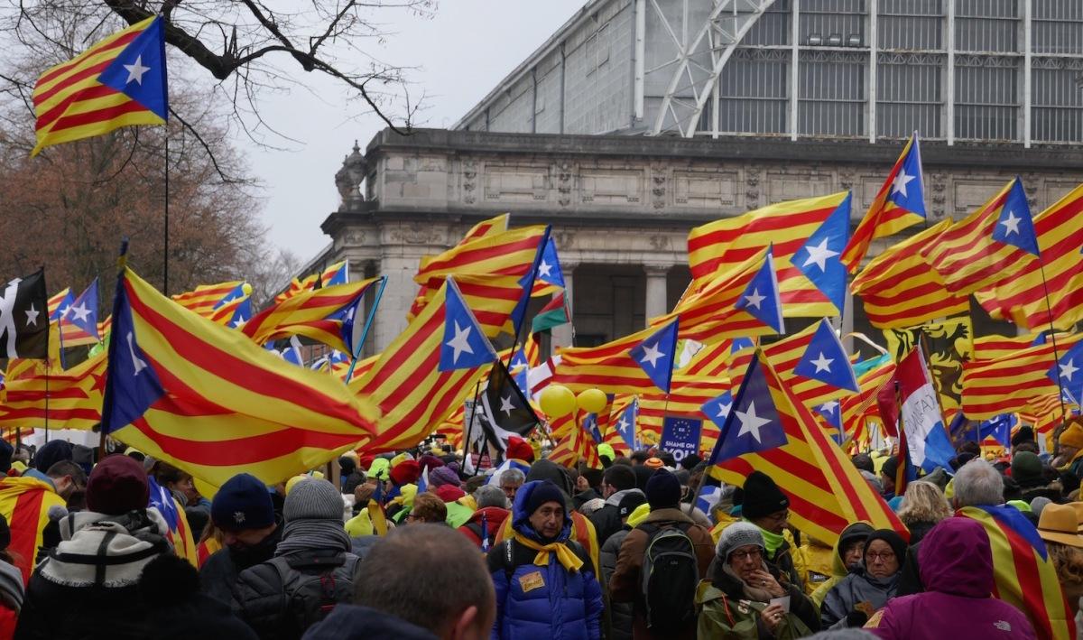 Katalanische Demo am 7. Dezember 2017 in Brüssel (Foto: Krystyna Schreiber)