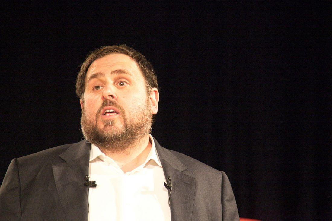 Oriol Junqueras bei einer Präsentation in Barcelona im Jahr 2014. (Foto: Amadalvarez, CC BY-SA 4.0)