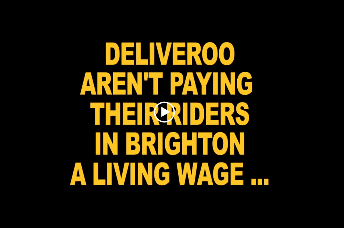 Deliveroo Brighton (Foto: Labournet.tv)