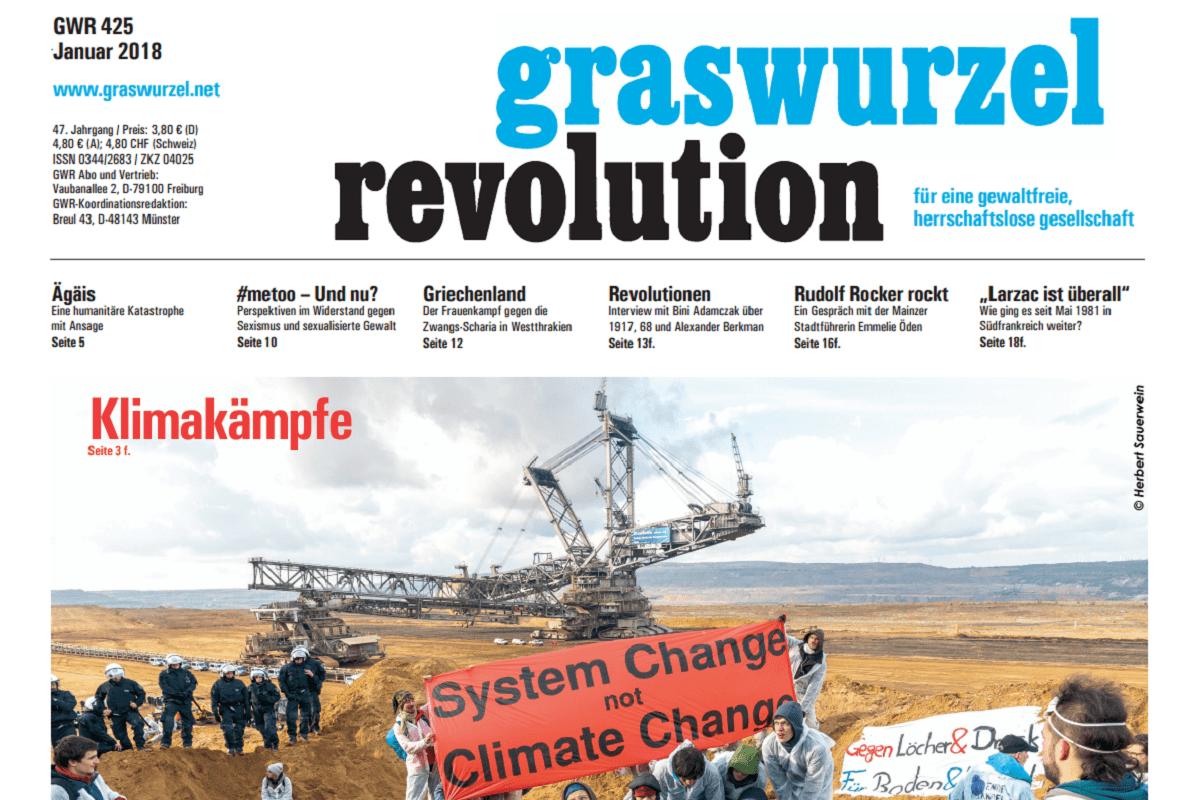 Graswurzelrevolution Monatszeitung Ausgabe Januar 2018