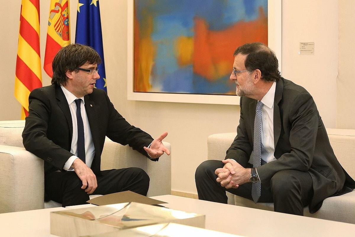 Carles Puigdemont und Mariano Rajoy bei einem Treffen im April 2016. (Foto: Generalitat de Catalunya=