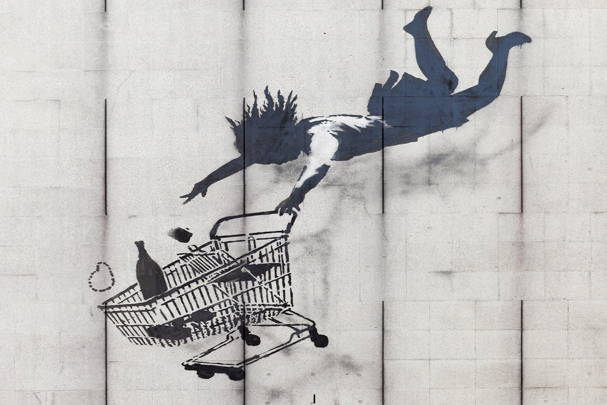 Shop Until You Drop. (Foto: Banksy, CC BY-SA 3.0)