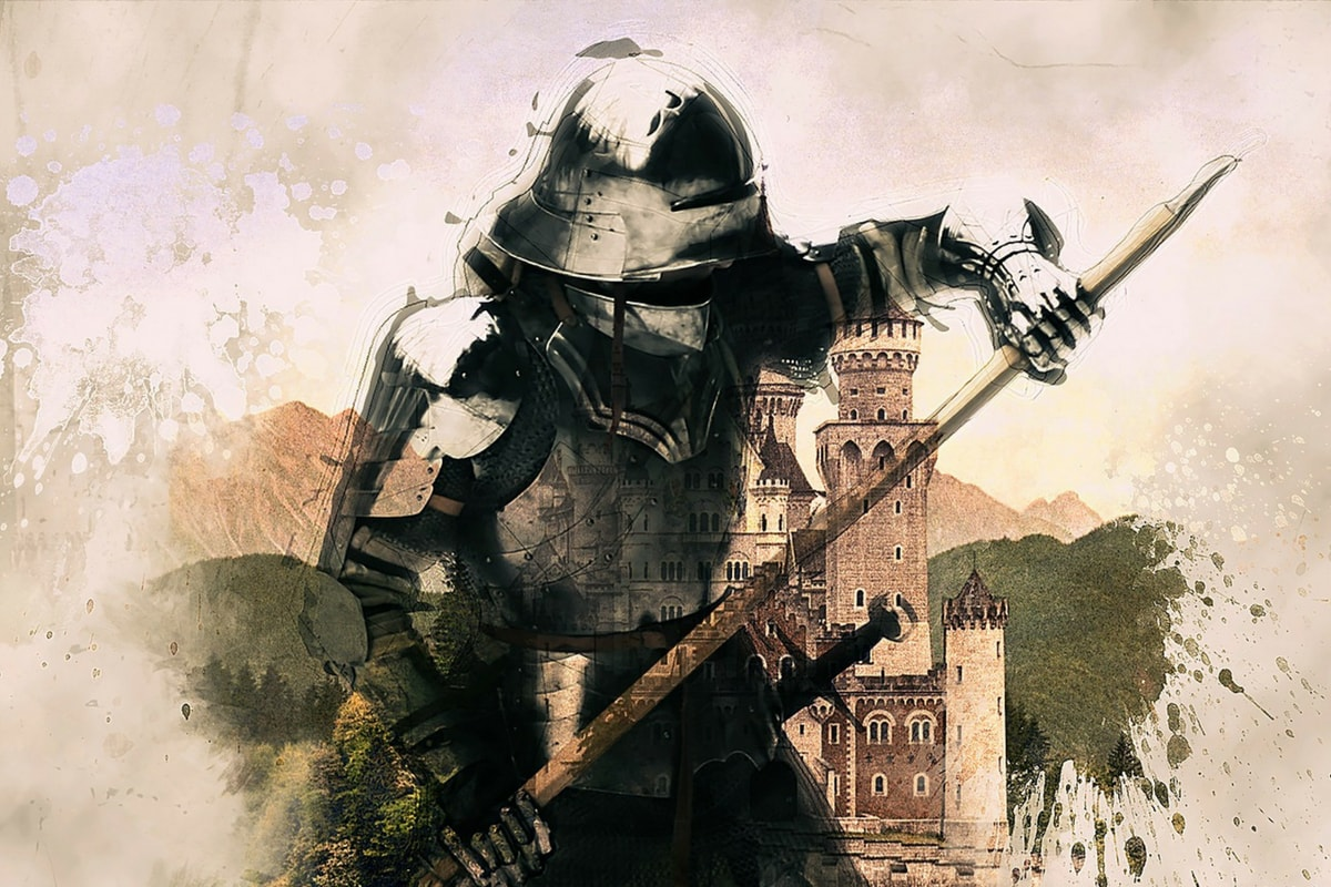 Ritter vor einer Burg. (Foto: Brigitte Werner, Pixabay.com, Creative Commons CC0.)