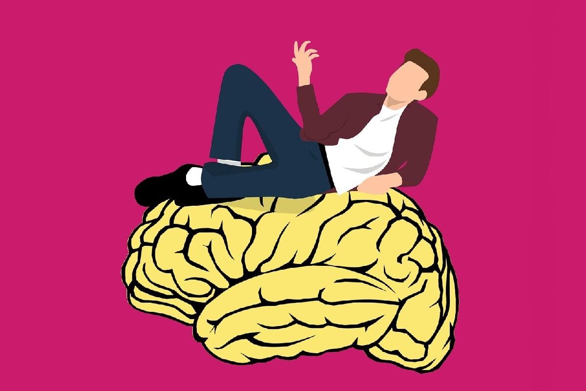 Mann ruht auf Gehirn. (Illustration: Mohamed Hassan, Pixabay.com, Creative Commons CC0)