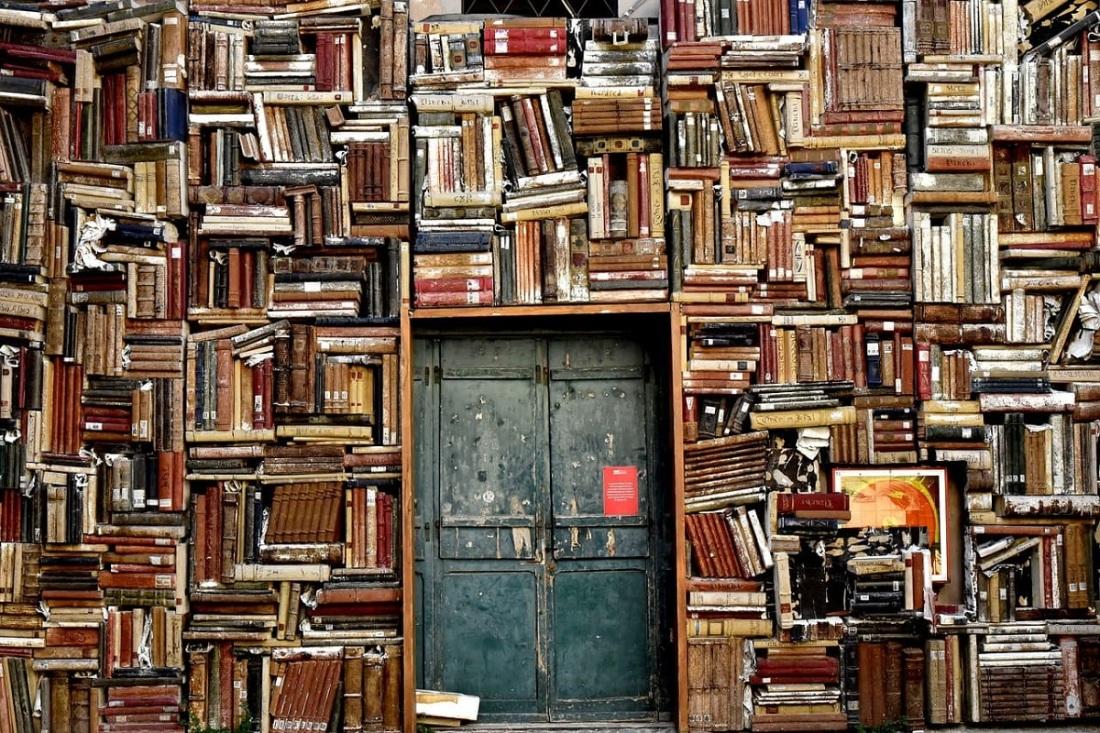 Bücher geordnet chaotisch. (Foto: Nino Carè, Pixabay.com, Creative Commons CC0)