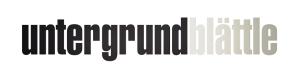 Untergrundblättle Logo Schrift klein