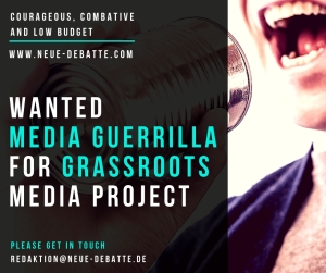 Wanted Media Guerrilla 20092018 Banner Neue Debatte