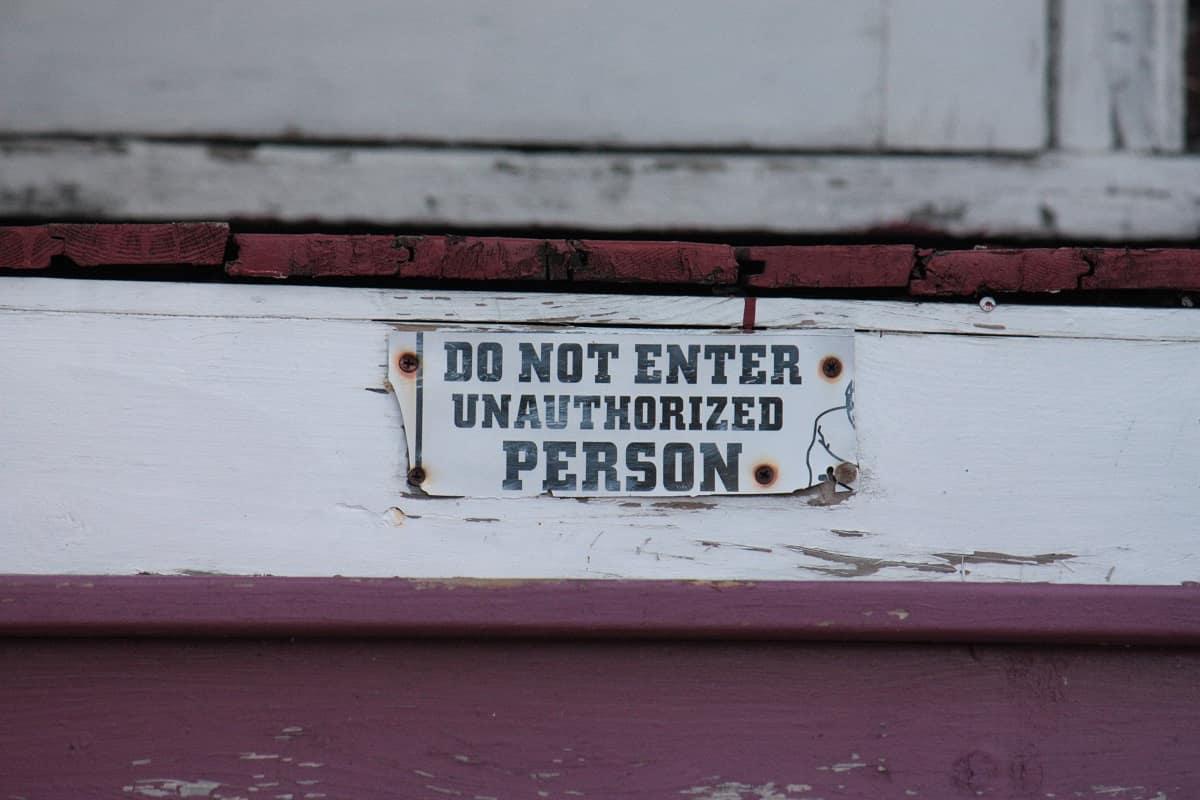 Unbefugte haben keinen Zutritt. (Foto: B J, Unsplash.com)